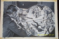 Mens Action cover 1960's Earl Norem Painting assasin Sniper